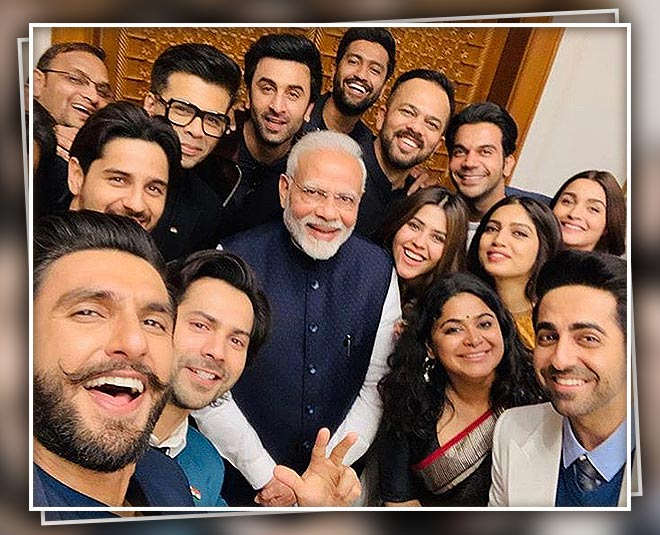 Alia bhatt ranbir kapoor meet prime minister modi at delhi with other  bollywood stars talk on different issues