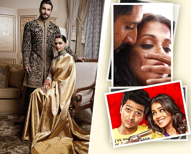 Deepveer to aishwarya abhishek all these real life bollywood couples who sizzled on screen