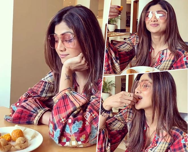 See shilpa shetty craziness for boondi ka ladoo and balushahi In viral video