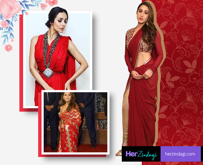 bollywood actress red saree for wedding season main