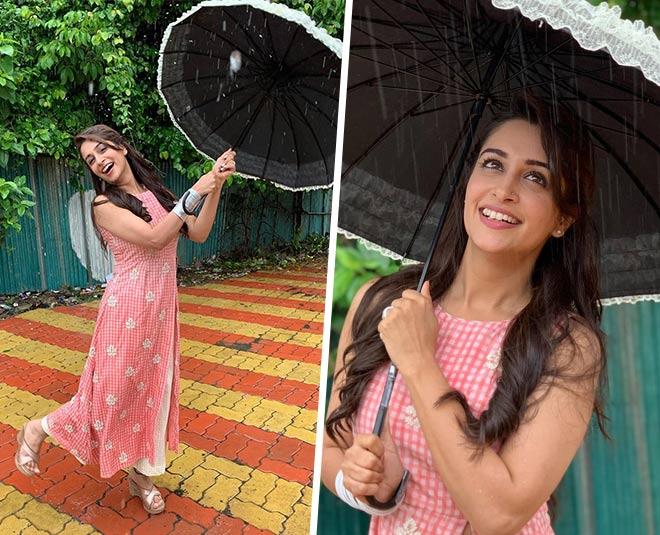 dipika kakar enjoying mumbai rain with husband shoaib main