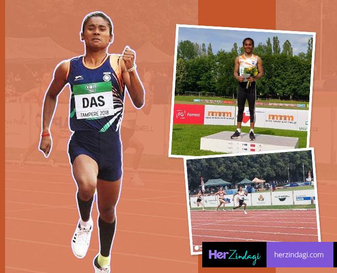 hima das success  gold medal at czech republic main