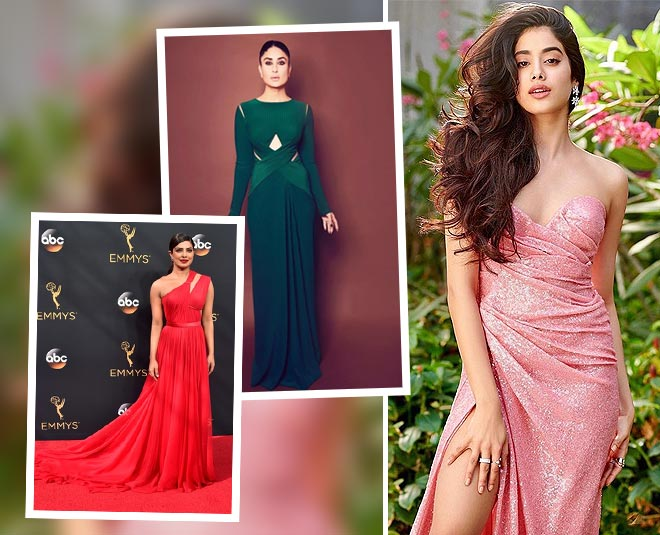 kareena kapoor jhanvi kapoor priyanka chopra in cut gown main