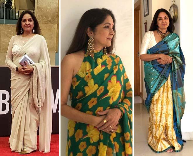 neena gupta saree style main