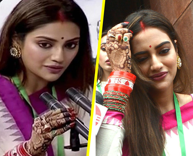 nusrat jahan with sindoor will participate in rathyatra main