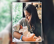 sameera reddy baby girl first picture thumb