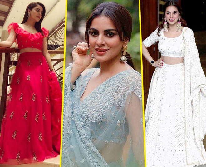 shraddha arya latest blouse designs