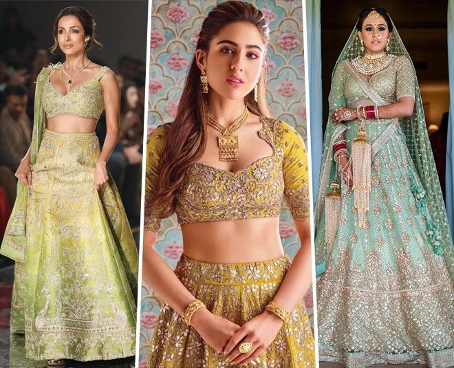 trending bridal lehenga colours main