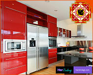 vastu tips for kitchen red colour lucky thumb