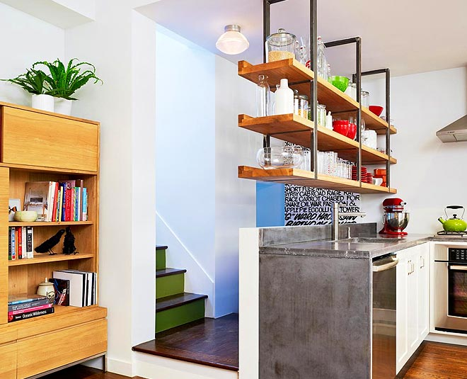 ways to use hanging shelves in kitchen main