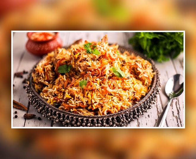 biryani tasty dishes inside
