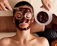 dark chocolate face pack