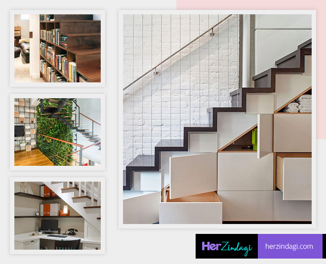decorate the place under the stairs smartly main