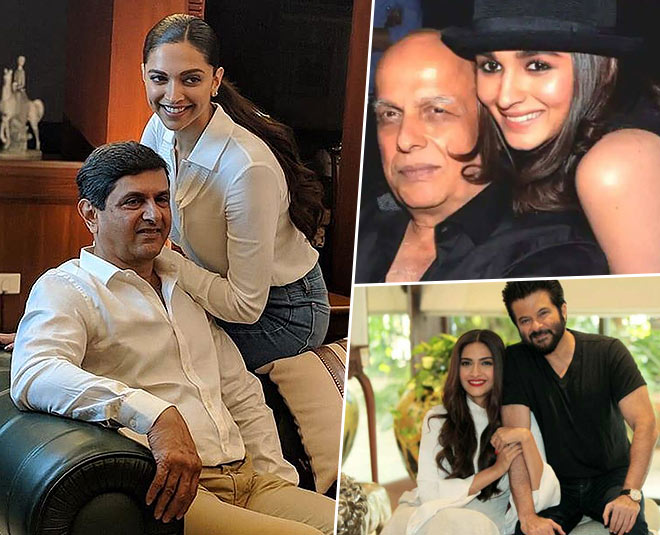 fathers day  bollywood actresses with their father main image