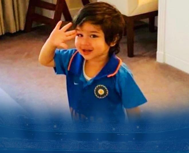 taimur ali khan in team india jersey