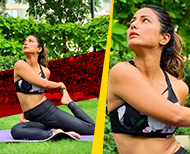 warrior yoga poses hina khan