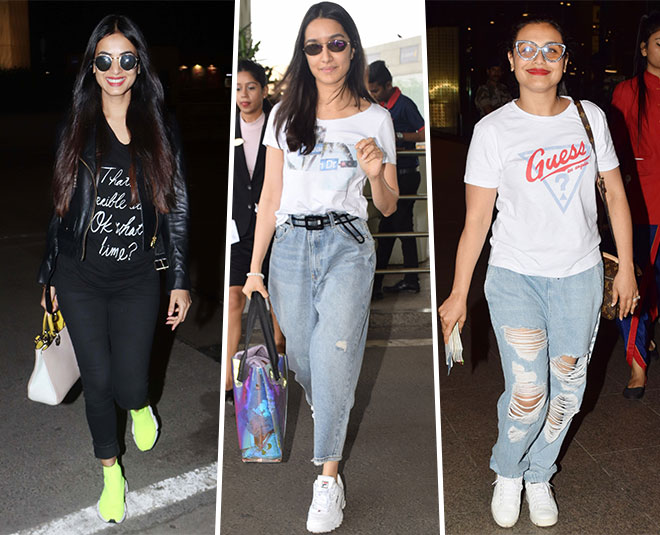 bollywood actress sporty casual airport look main