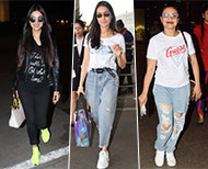 bollywood actress sporty casual airport look thumb