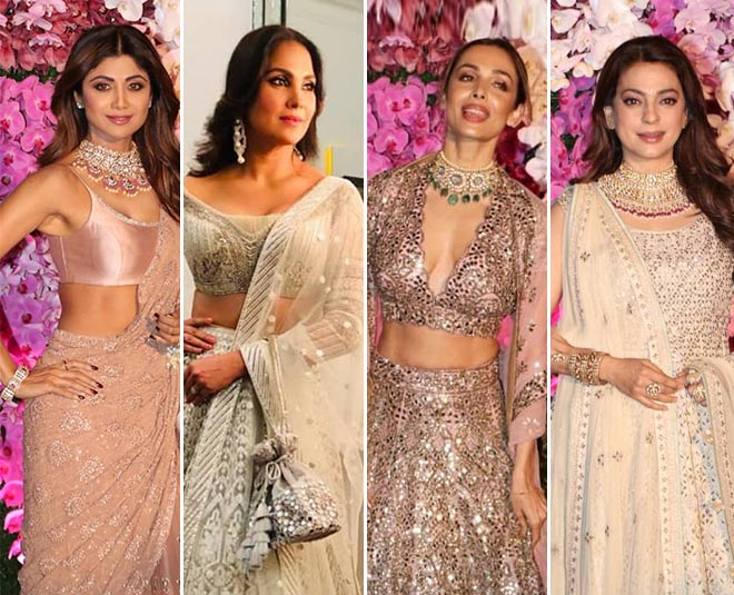nudes whites shloka ambani guests celebs