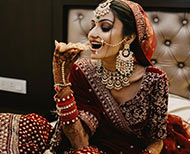 anusha bhatt bollywood bridal look