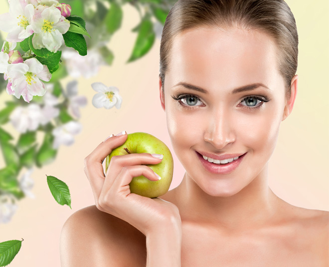 apple for healthy glowing skin