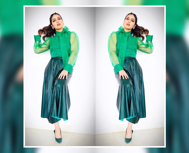 Priyankas Lime Blouse To Deepikas Off Shoulder Top, We -8128