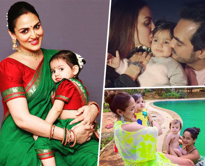 esha deol with family