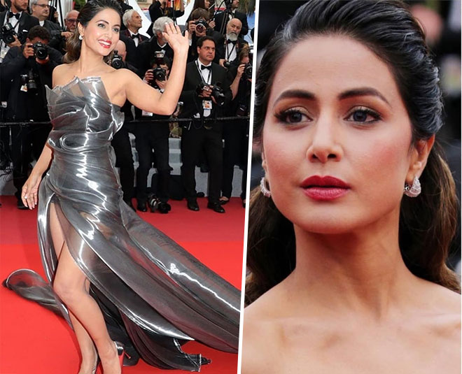 hina khan second red carpet look