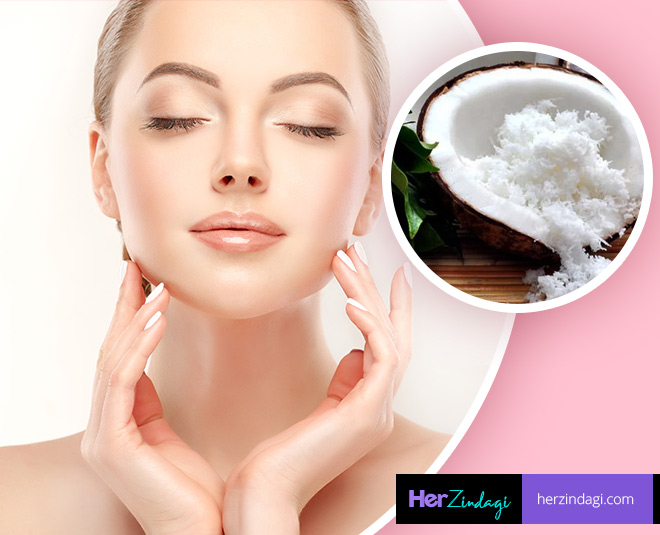 homemade coconut facial glowing skin