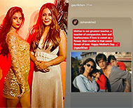 suhana khan with mother gauri khan says how much she loves herthumb