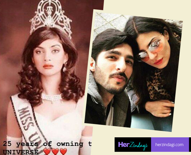 sushmita sen miss universe twenty fifth anniversary rohman shawl says  years of miss universe main