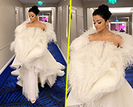 white feather gown aishwarya rai bachchan