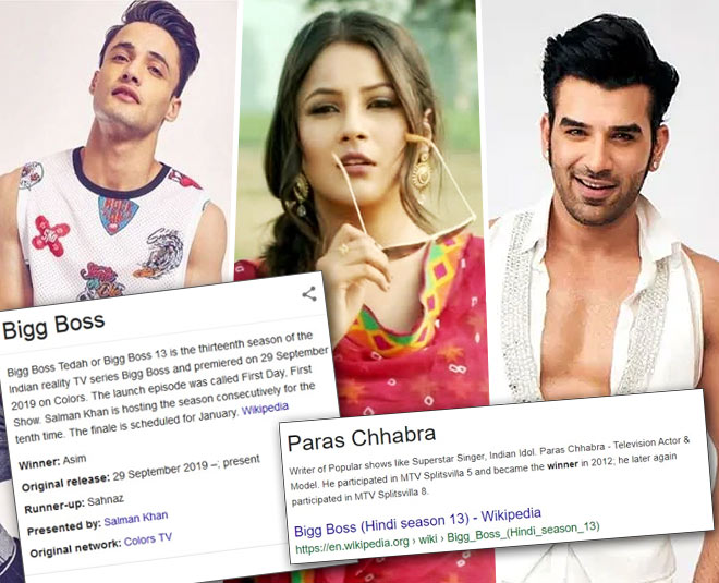 Bigg Boss 13 Results Out Google Search Declares Paras