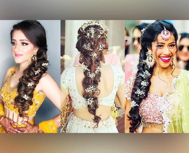 creative hairstyles for mehendi function ()