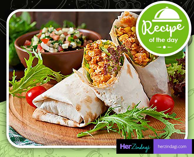 paneer wrap with mint mayonnaise m