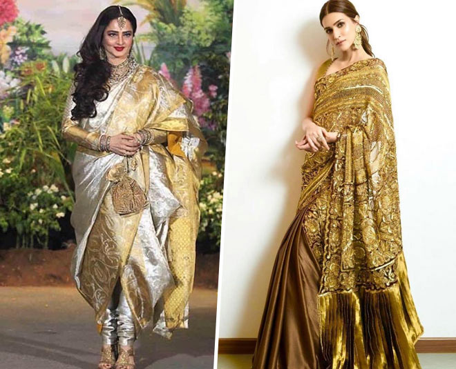 saree golden