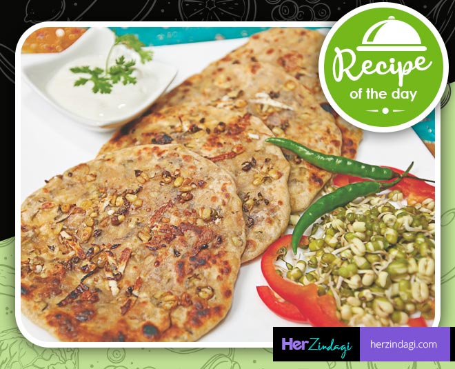 sprout  moong  paratha  weekend recipe