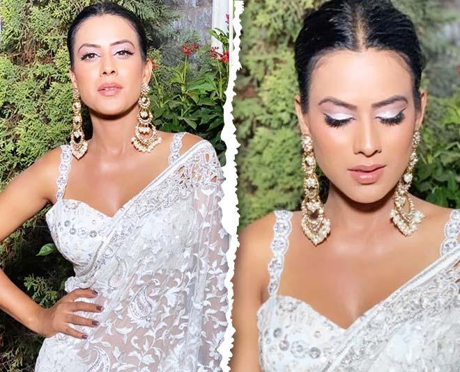tv actress nia sharma in saree