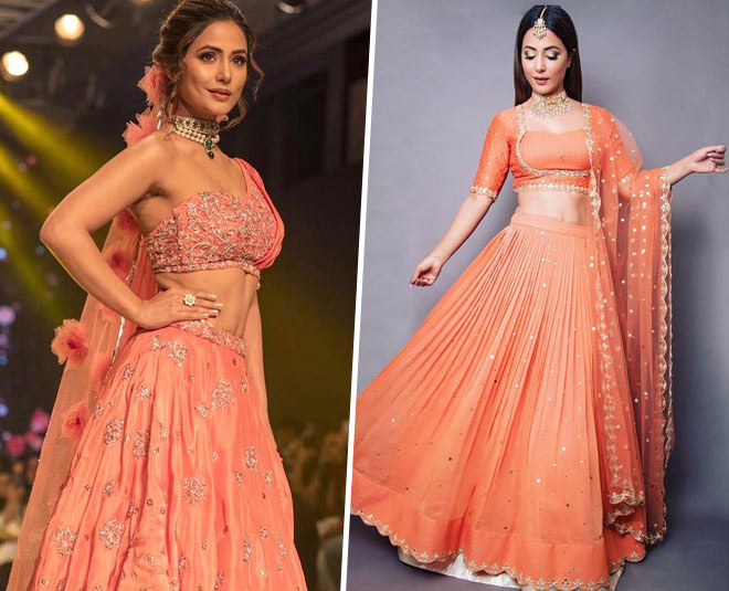 Hina Khan latest wedding lehenga designs