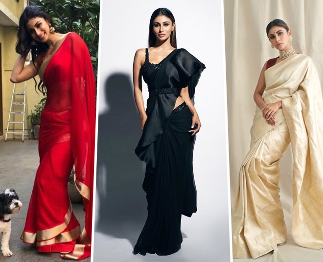 Mouni roy style saree on cheap rates