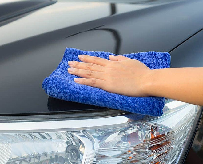 car cleaning at home
