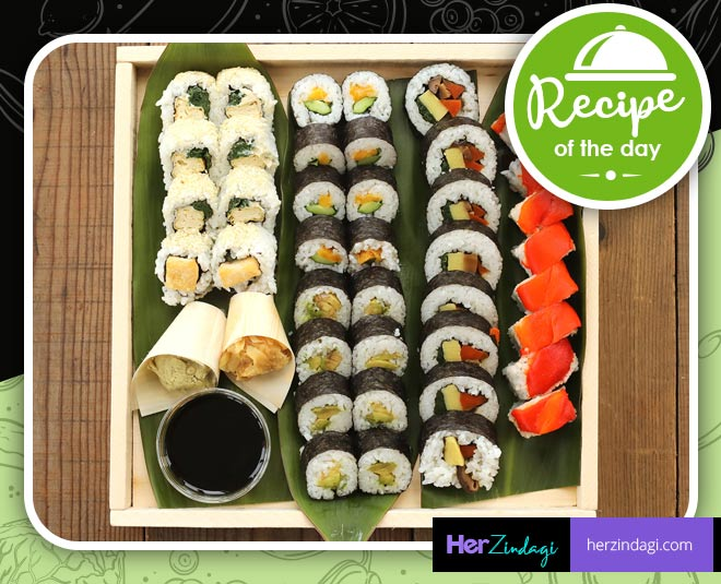 cook japani dish vegetarian sushi at home main