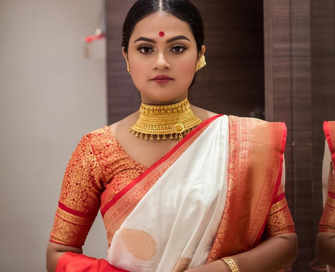 durga puja   how to wear bengali saree and bengali makeup inside