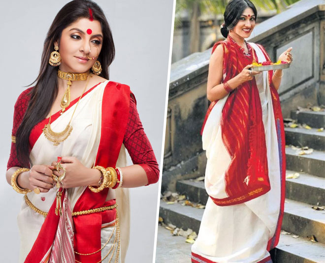 durga puja how to wear bengali saree and makeup main