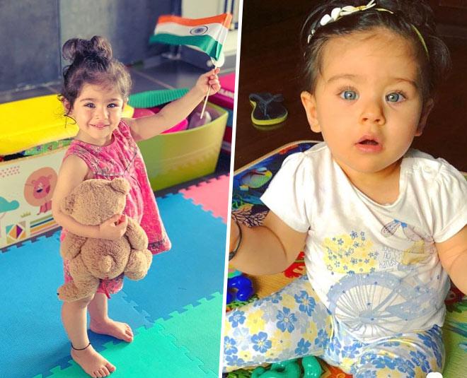inaaya naumi cute pics with taimur main