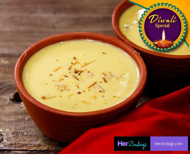 make gujarati sweet dish basundi at home main