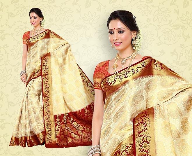 pure kanjivaram silk saree for karwa chauth