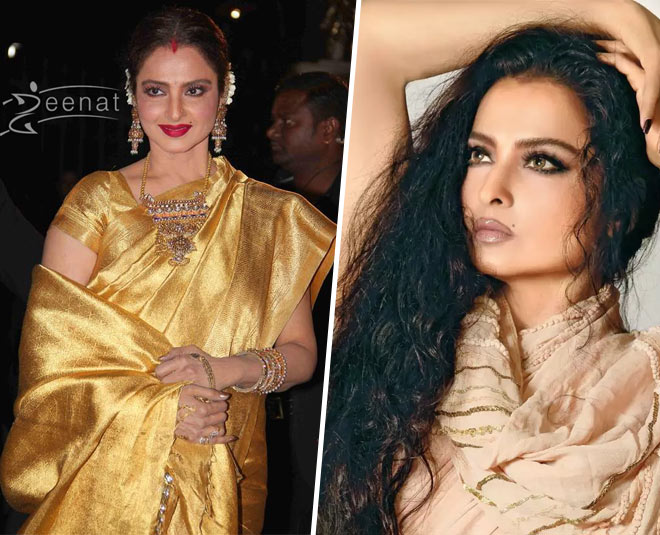 rekha unique dresses