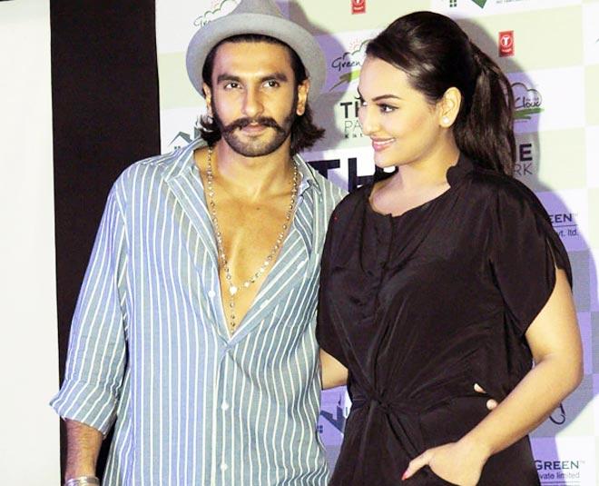 See Pics Sonakshi Sinha Ranveer Singh Wear Same Yellow Checked Suit