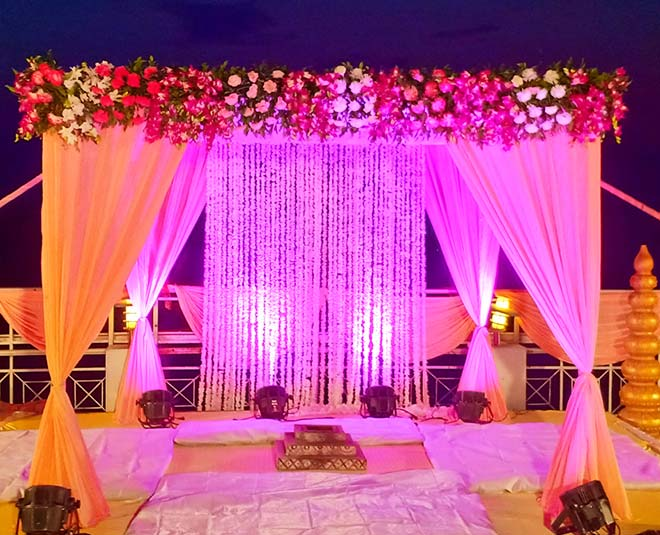 stage decor ideas for engagement and sangeet function tips